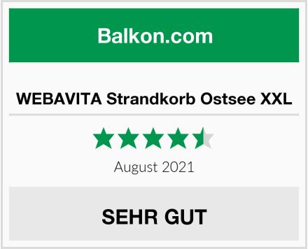 WEBAVITA Strandkorb Ostsee XXL Test