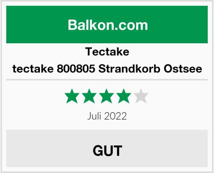tectake 800805 Strandkorb Ostsee Test