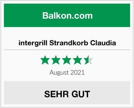 intergrill Strandkorb Claudia Test