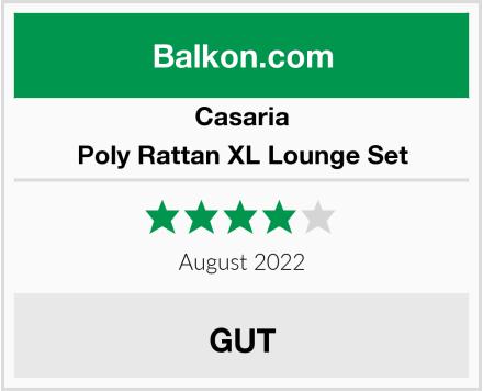 Casaria Poly Rattan XL Lounge Set Test