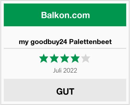 my goodbuy24 Palettenbeet Test
