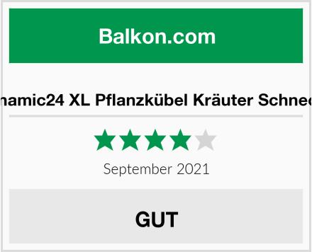 Dynamic24 XL Pflanzkübel Kräuter Schnecke Test