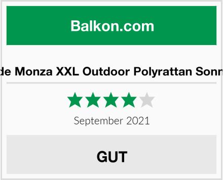 RS Trade Monza XXL Outdoor Polyrattan Sonnenliege Test