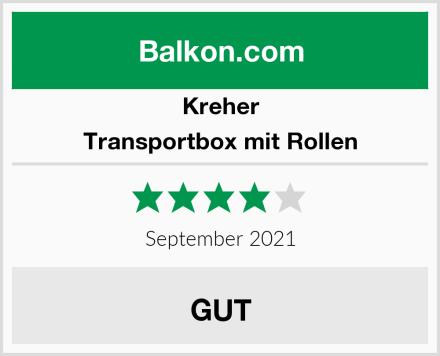 Kreher Transportbox mit Rollen Test