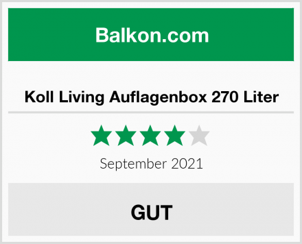Koll Living Auflagenbox 270 Liter Test