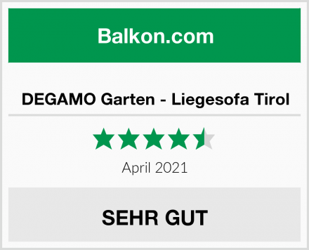 DEGAMO Garten - Liegesofa Tirol Test