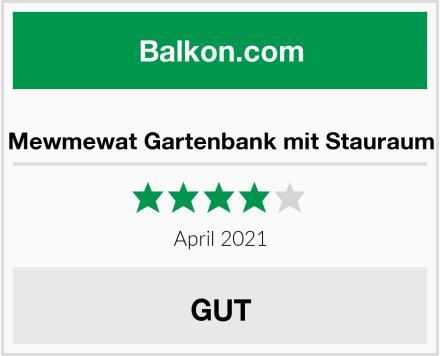Mewmewat Gartenbank mit Stauraum Test