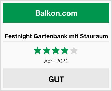 Festnight Gartenbank mit Stauraum Test