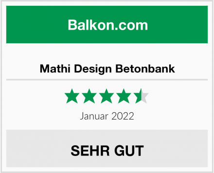 Mathi Design Betonbank Test