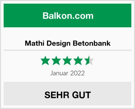 Mathi Design Betonbank Test