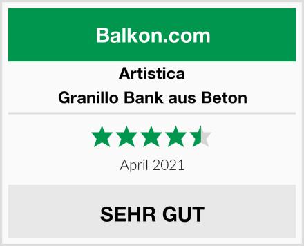 Artistica Granillo Bank aus Beton Test