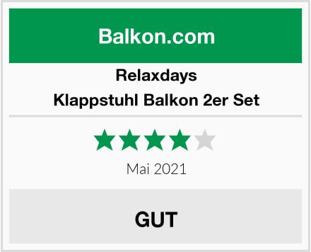 Relaxdays Klappstuhl Balkon 2er Set Test