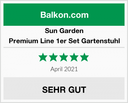 Sun Garden Premium Line 1er Set Gartenstuhl Test