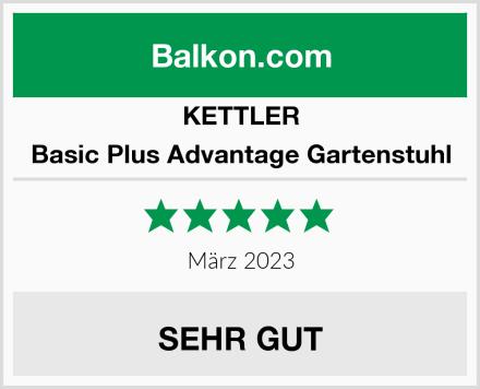 KETTLER Basic Plus Advantage Gartenstuhl Test
