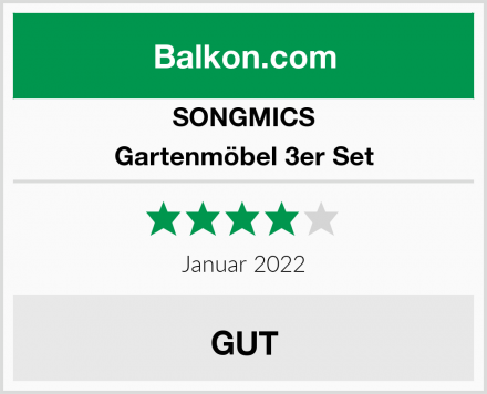 SONGMICS Gartenmöbel 3er Set Test
