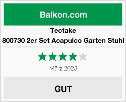 Tectake 800730 2er Set Acapulco Garten Stuhl Test