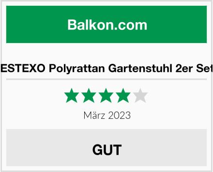 ESTEXO Polyrattan Gartenstuhl 2er Set Test