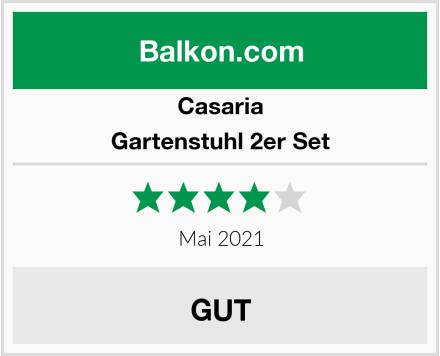Casaria Gartenstuhl 2er Set Test