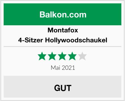 Montafox 4-Sitzer Hollywoodschaukel Test