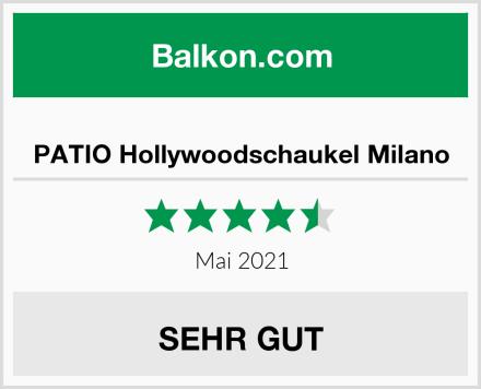 PATIO Hollywoodschaukel Milano Test