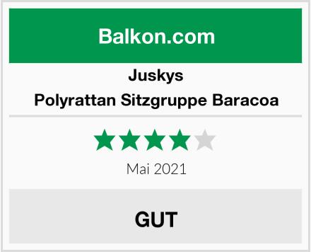 Juskys Polyrattan Sitzgruppe Baracoa Test