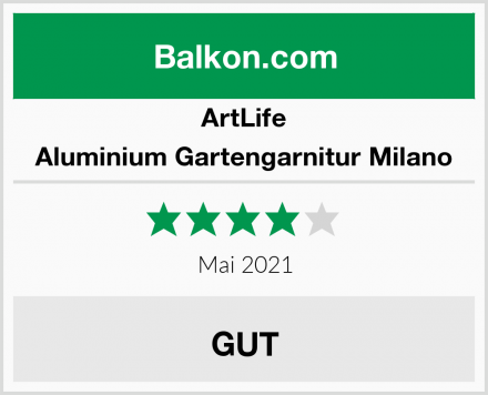 ArtLife Aluminium Gartengarnitur Milano Test