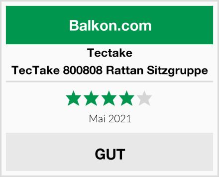 Tectake TecTake 800808 Rattan Sitzgruppe Test
