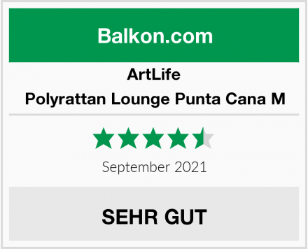 ArtLife Polyrattan Lounge Punta Cana M Test
