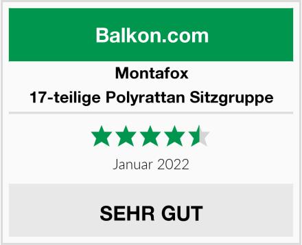 Montafox 17-teilige Polyrattan Sitzgruppe Test