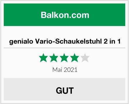 genialo Vario-Schaukelstuhl 2 in 1 Test