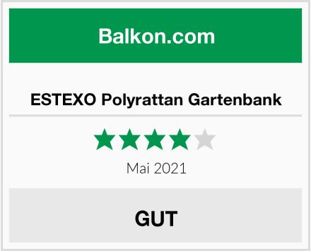 ESTEXO Polyrattan Gartenbank Test