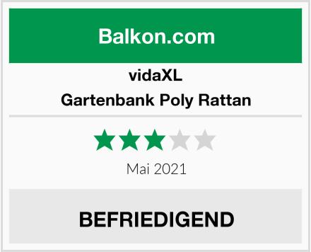vidaXL Gartenbank Poly Rattan Test