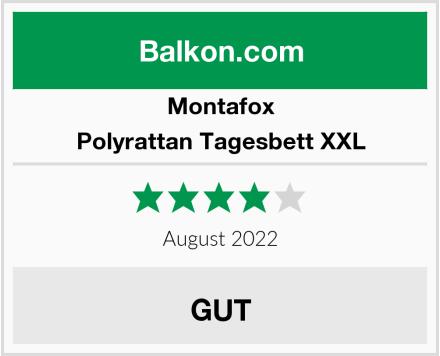 Montafox Polyrattan Tagesbett XXL Test