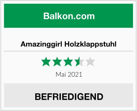 Amazinggirl Holzklappstuhl Test