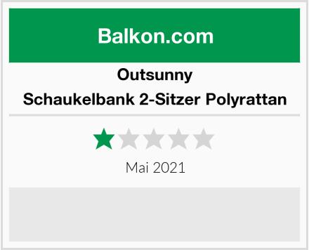 Outsunny Schaukelbank 2-Sitzer Polyrattan Test