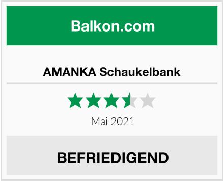 AMANKA Schaukelbank Test