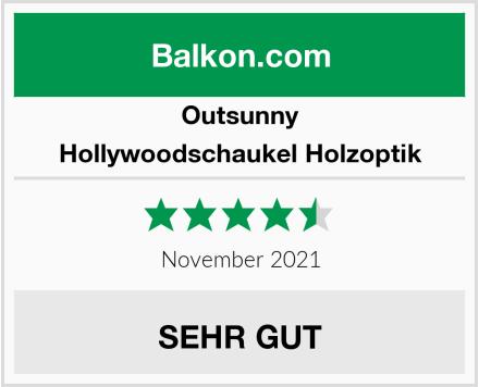 Outsunny Hollywoodschaukel Holzoptik Test