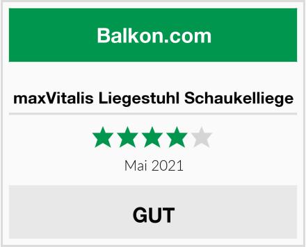maxVitalis Liegestuhl Schaukelliege Test