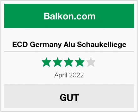 ECD Germany Alu Schaukelliege Test