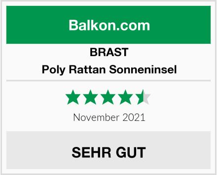 BRAST Poly Rattan Sonneninsel Test