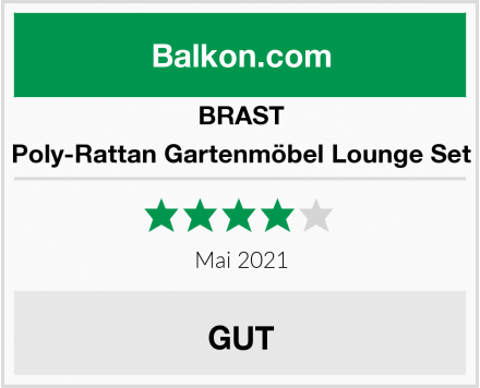 BRAST Poly-Rattan Gartenmöbel Lounge Set Test