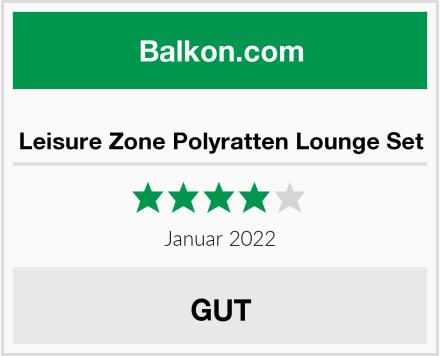 Leisure Zone Polyratten Lounge Set Test