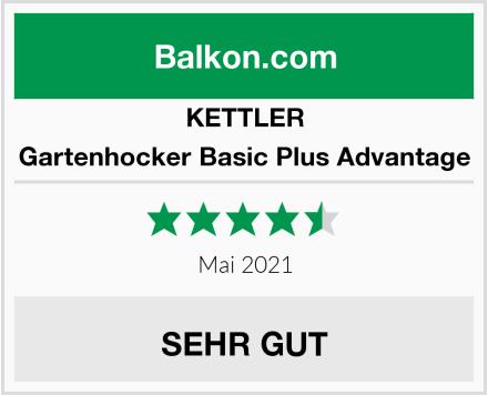 KETTLER Gartenhocker Basic Plus Advantage Test