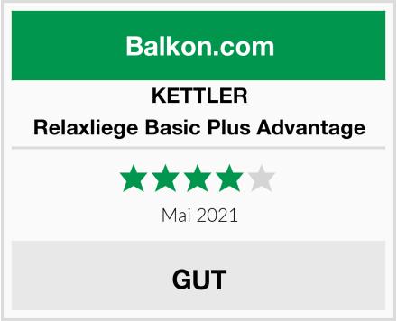 KETTLER Relaxliege Basic Plus Advantage Test