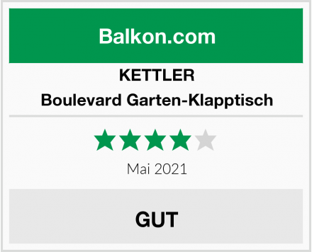 KETTLER Boulevard Garten-Klapptisch Test