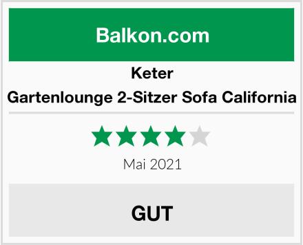 Keter Gartenlounge 2-Sitzer Sofa California Test