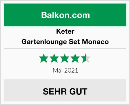 Keter Gartenlounge Set Monaco Test