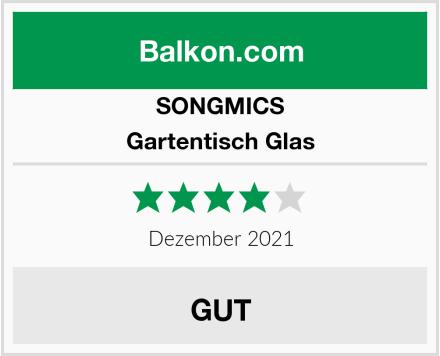 SONGMICS Gartentisch Glas Test