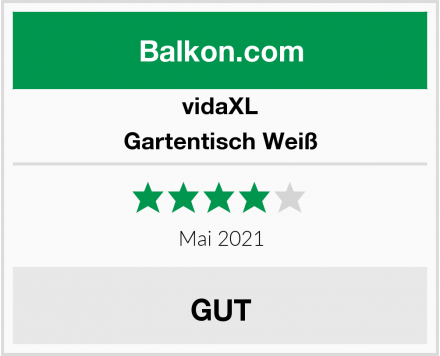 vidaXL Gartentisch Weiß Test