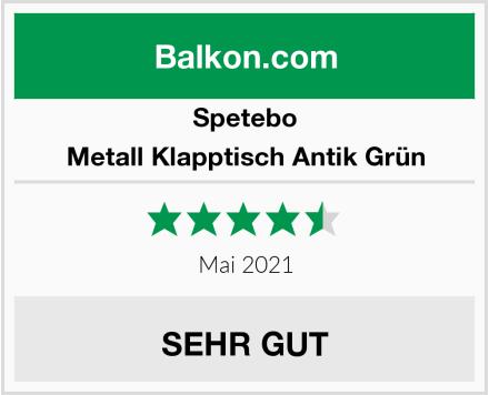 Spetebo Metall Klapptisch Antik Grün Test